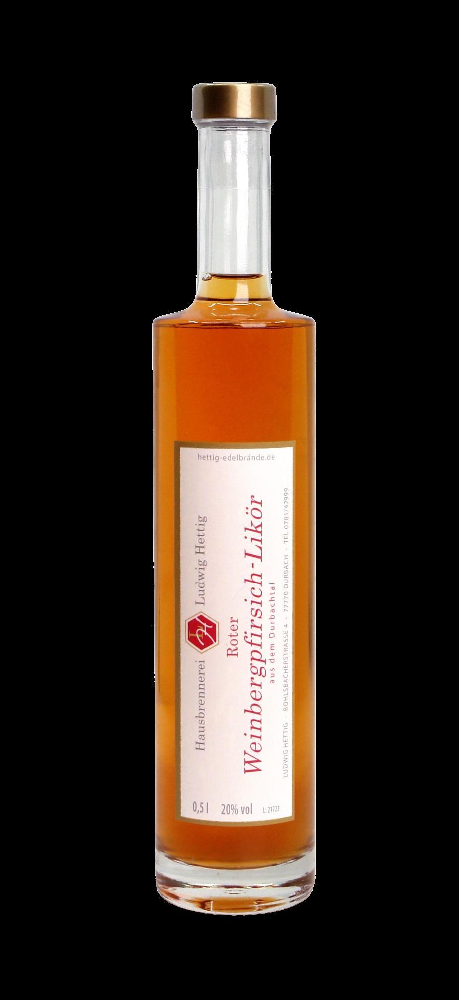 Roter Weinbergpfirsich-Likör